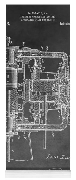 Internal Combustion Engine Yoga Mat