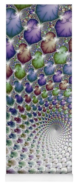 Into The Vortex Colorful Fractal Art Yoga Mat
