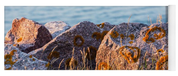 Inverness Beach Rocks  Yoga Mat