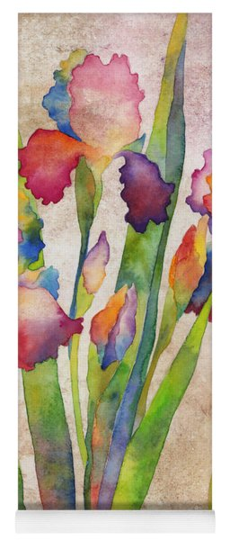 Iris Elegance On Pink Yoga Mat
