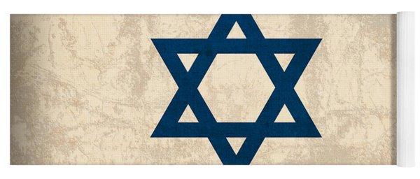 Israel Flag Vintage Distressed Finish Yoga Mat