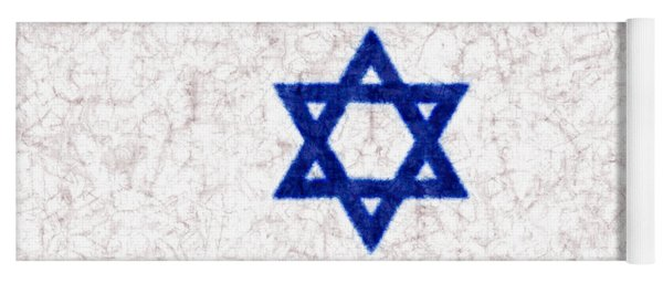 Israel Star Of David Flag Batik Yoga Mat