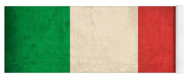 Italy Flag Vintage Distressed Finish Yoga Mat