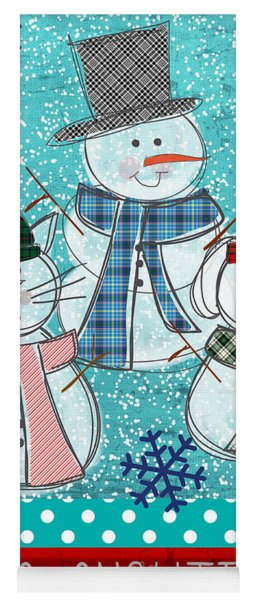 It's Snowtime Yoga Mat