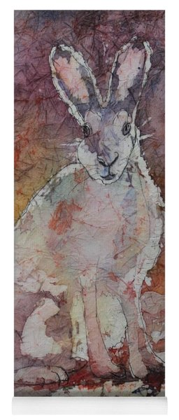 Yoga Mat featuring the painting Jack Rabbit by Ruth Kamenev