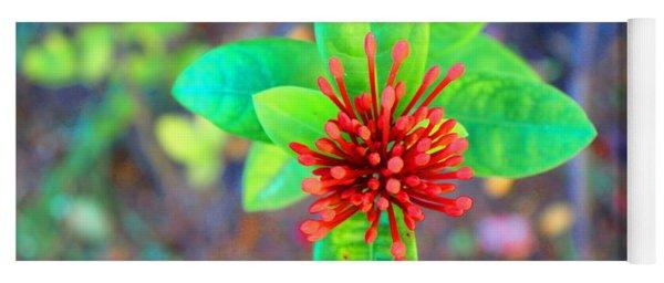 Jamaican Ixora Flower Yoga Mat