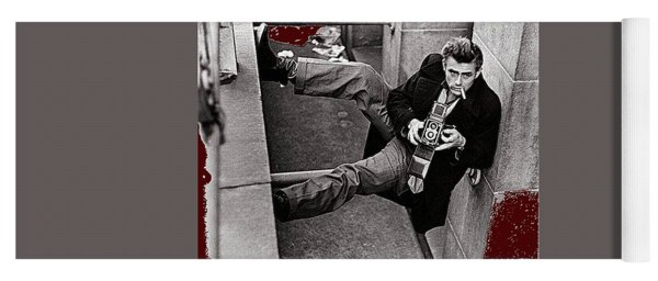 James Dean Rolleiflex New York City 1954-2014 Yoga Mat