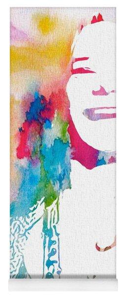 Janis Joplin Watercolor Yoga Mat