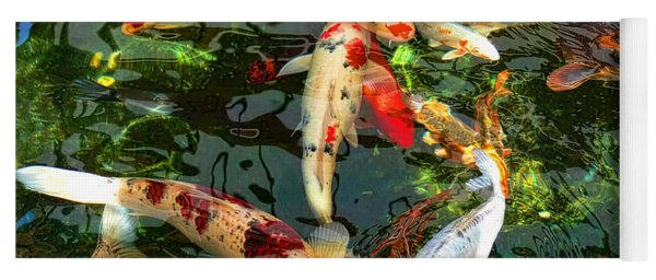 Japanese Koi Fish Pond Yoga Mat