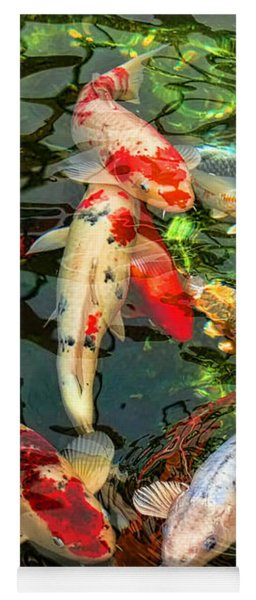 Japanese Koi Fish Pond Yoga Mat