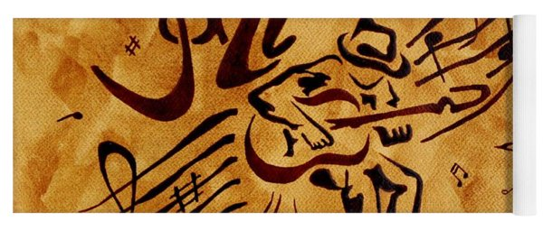 Jazz Abstract Coffee Painting Yoga Mat