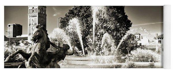 Jc Nichols Memorial Fountain Bw 1 Yoga Mat
