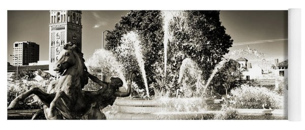 Jc Nichols Memorial Fountain Bw 1 Yoga Mat