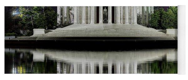 Jefferson Memorial - Night Reflection Yoga Mat