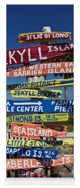 Jekyll Island Sign Yoga Mat