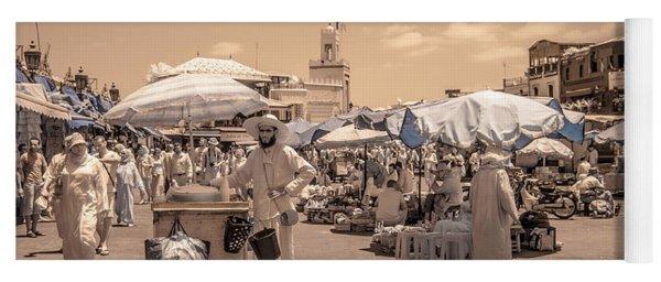 Jemaa El Fna Market In Marrakech Yoga Mat