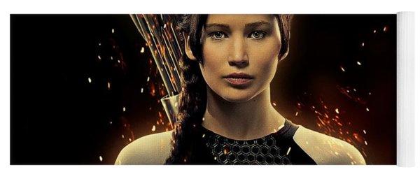 Jennifer Lawrence As Katniss Everdeen Yoga Mat