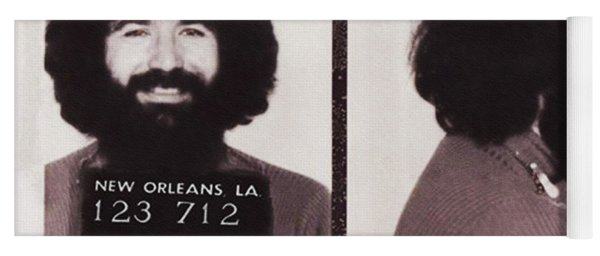 Jerry Garcia Mugshot Yoga Mat