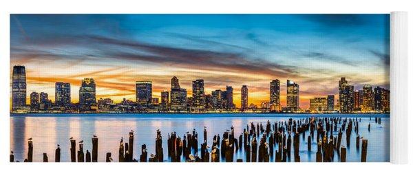 Jersey City Panorama At Sunset Yoga Mat
