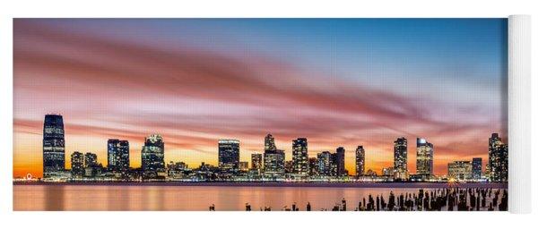 Jersey City Skyline At Sunset Yoga Mat