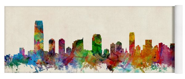 Jersey City Skyline Yoga Mat