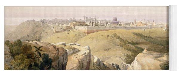 Jerusalem From The Mount Of Olives Yoga Mat