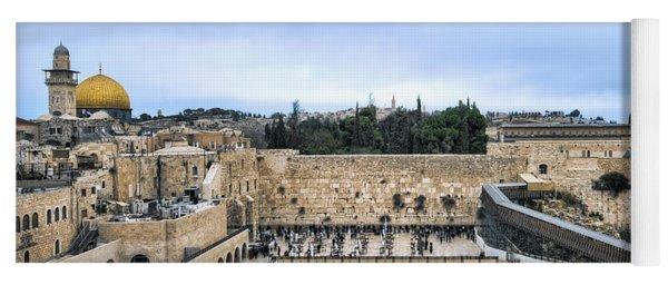 Jerusalem The Western Wall Yoga Mat