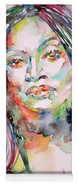 Jessye Norman - Watercolor Portrait Yoga Mat