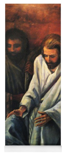 Jesus Healing Beggar Yoga Mat
