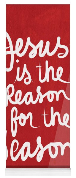 Jesus Is The Reason For The Season- Greeting Card Yoga Mat