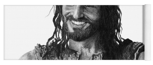 Jesus Smiling Yoga Mat