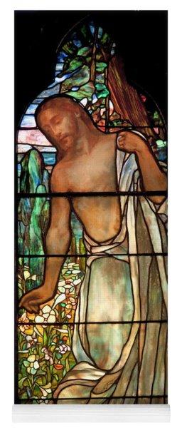 Jesus Stained Art - St Paul's Episcopal Church Selma Alabama Yoga Mat