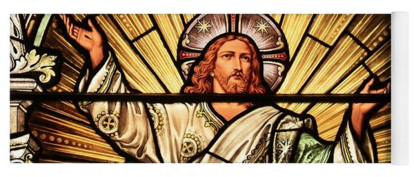 Jesus - The Light Of The Wold Yoga Mat