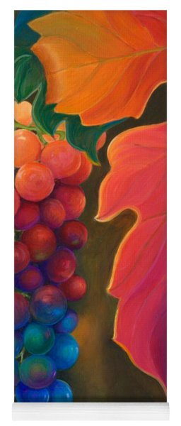 Yoga Mat featuring the painting Jewels Of The Vine by Sandi Whetzel