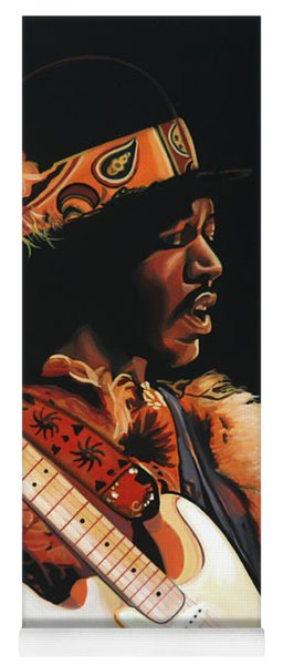 Jimi Hendrix 3 Yoga Mat