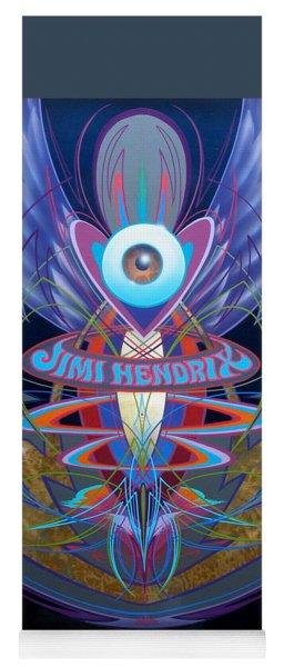 Jimi Hendrix Memorial Yoga Mat