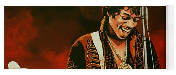 Jimi Hendrix Painting Yoga Mat