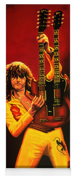 Jimmy Page Painting Yoga Mat