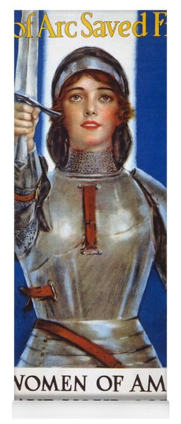 Joan Of Arc Saved France Yoga Mat