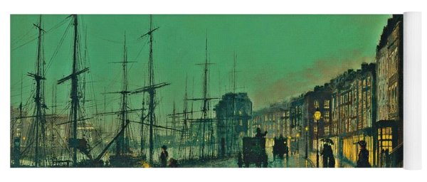 John Atkinson Grimshaw Shipping On The Clyde 1881 Yoga Mat