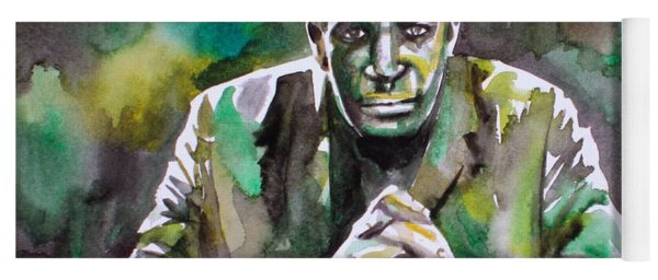John Coltrane - Watercolor Portrait Yoga Mat