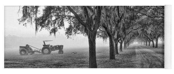 John Deer Tractor And The Avenue Of Oaks Yoga Mat