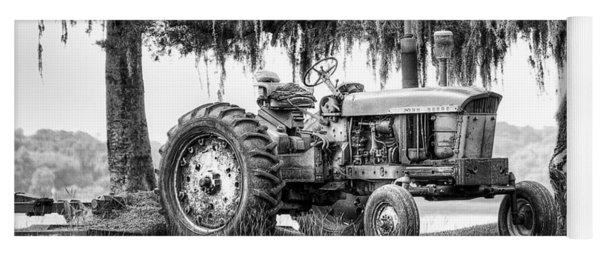 John Deer Tractor Under The Old Cedar Yoga Mat