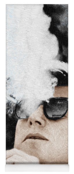 John F Kennedy Cigar And Sunglasses Yoga Mat