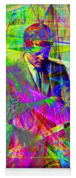 John Fitzgerald Kennedy Jfk In Abstract 20130610 Yoga Mat