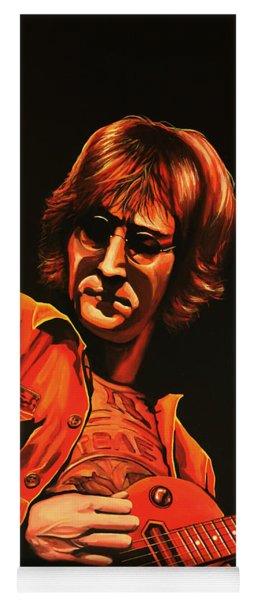 John Lennon Painting Yoga Mat