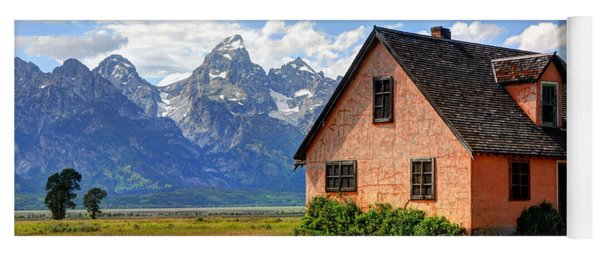 John Moulton Home Grand Teton National Park Yoga Mat