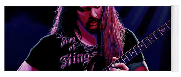 John Petrucci Painting Yoga Mat