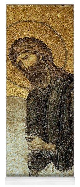 John The Baptist-detail Of Deesis Mosaic  Hagia Sophia-judgement Day Yoga Mat