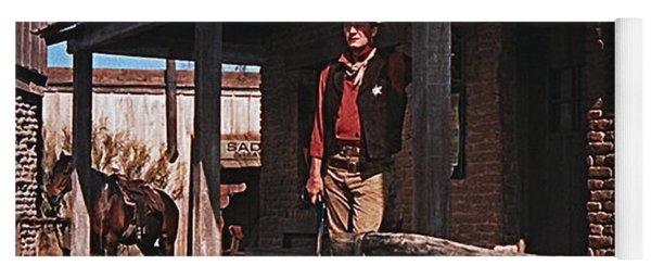 John Wayne Porch Of His Sheriff's Office Rio Bravo 1959 Old Tucson Arizona-2013 Yoga Mat